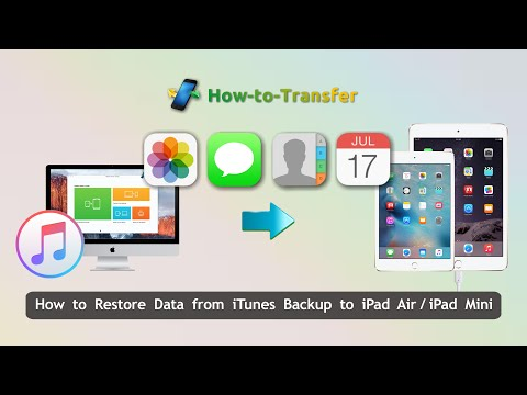 How to Restore Data from iTunes Backup to iPad Air/iPad Mini