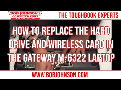 How to replace the Hard drive and wireless card in the Gateway M-6322 Laptop