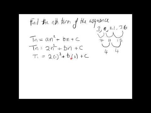 Junior Cert Maths Paper 1..Finding Nth Term of a Sequence Formula