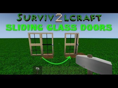 Survivalcraft 2 - How to make Sliding Glass Doors