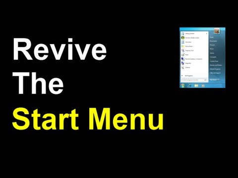 How To Bring The Windows 7 Start Button & Start Menu Back To Windows 8 Consumer Preview