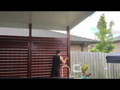 Sealing a timber screen I built Part 2 of 2