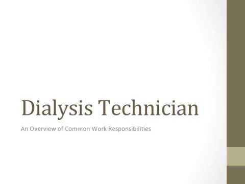 A Review of the Dialysis Technician Job Description