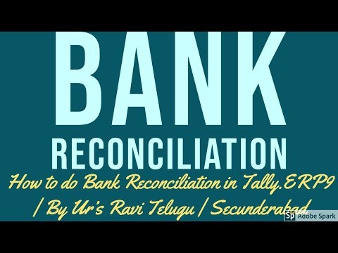 How to do Bank Reconciliation in Tally.ERP9