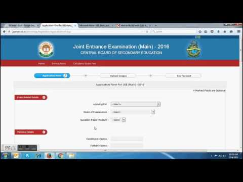 How to fill JEE Main 2016 Application Form  Part 1