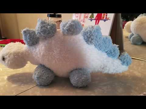 Handmade Knitted Katie Boyette Dinosaur Jr Instructional Pattern Review