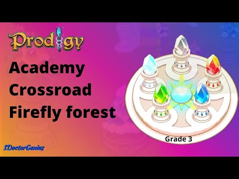 Prodigy Math Game - Grade 3 - Video 2  (On way to Academy crossroad - Firefly forest)  Level 2 - 4