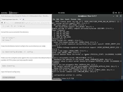 Building an Upstream Kernel for Fedora