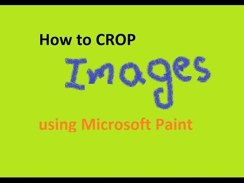How to crop a image in microsoft paint