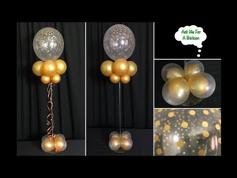 Confetti Balloon Centerpiece With Lights