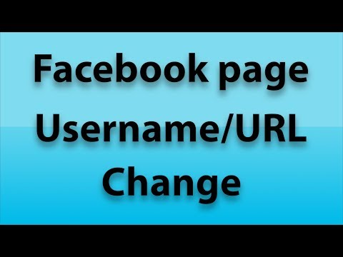 How to Change Facebook Page  Username/URL [2018]