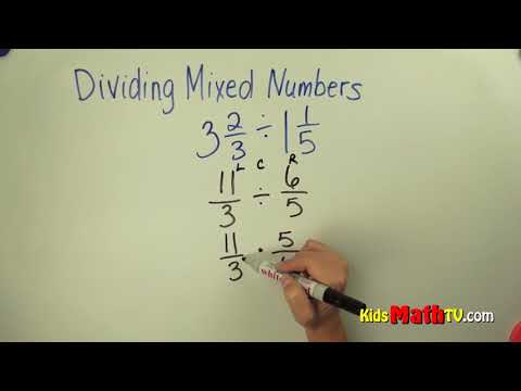 Learn how to divide two mixed numbers math video