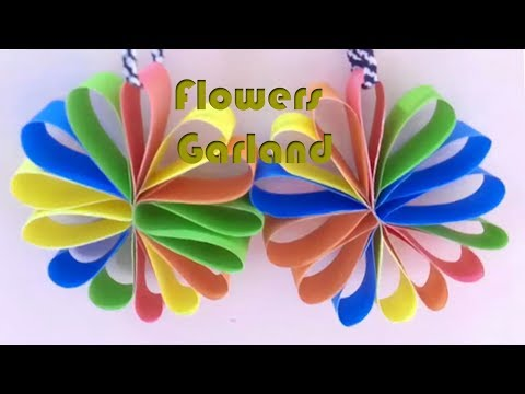 Hanging Beautiful Origami Flowers Garland for Party Decorations - DIY Paper Craft Ideas #09