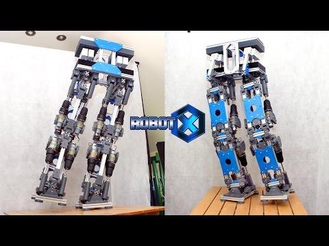 XRobots - Robot X - Walking SCi-Fi Humanoid Robot PART 2, Legs & Hips