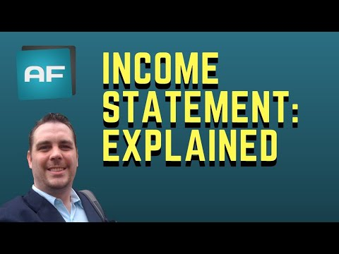 Income Statement Explained: Comprehensive Income Statement Tutorial - Profit & Loss Statement
