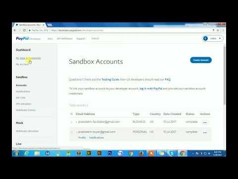 Generating PayPal API Credentials