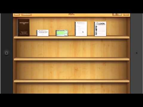 How To Use An iPad  Reading PDF's