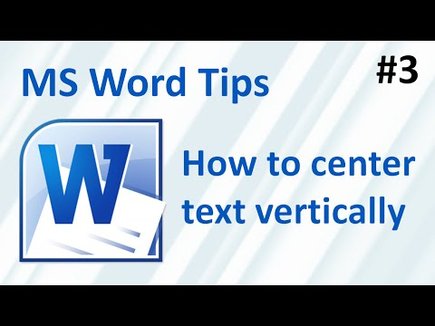 Word: How to center text vertically