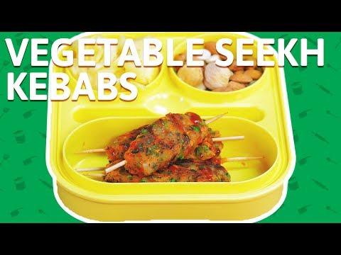 Vegetable Seekh Kebab - How To Make Veg Kabab Recipe - Kebab Recipe For Kids Tiffin Box