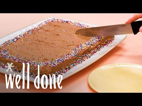 How To Make Chocolate Fudge Sheet Cake | Recipe | Well Done
