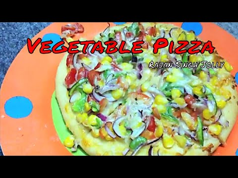 Vegetable Pizza Recipe In Hindi | Veg Pizza Recipe | Veggie Pizza Recipe | Vegetable Pizza Recipe