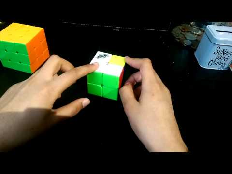 How to solve a 2 by 2 rubiks cube