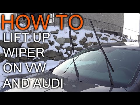 How To Lift Up Wiper Blade on VW and Audi cars
