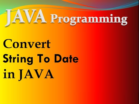 string to date conversion in java Example