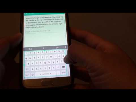 Samsung Galaxy S7: How to Change Keyboard Size
