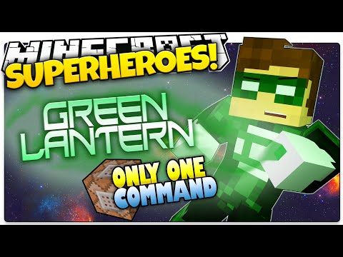 Minecraft | How To Be A Superhero! | GREEN LANTERN! | Only One Command (One Command Creation)