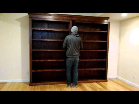 Sliding bookcase/hidden door