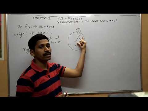 Maharashtra Board Physics in hindi  STD 12 Gravitation Acceleration due to gravity Lecture 2