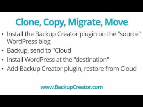 Clone (or Copy) Your WordPress Sites Using Backup Creator