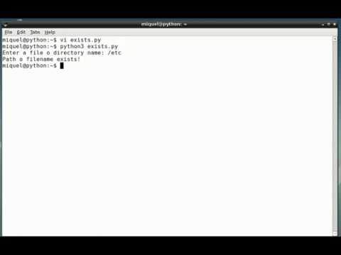 Python - How to check whether a file exists?
