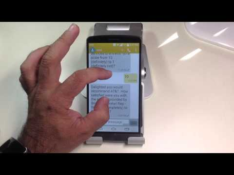 LG G3 Tips:  How to quickly increase the size of the fonts in text messages