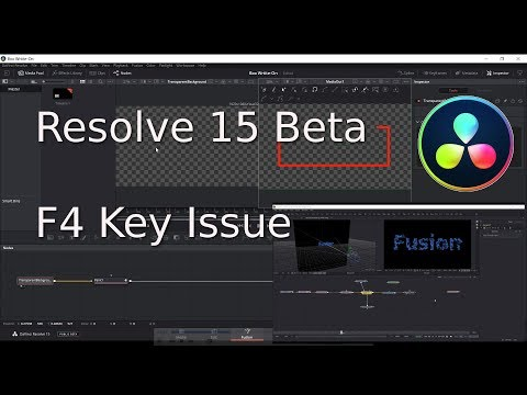 Resolve 15 Beta   F4 Key Issue