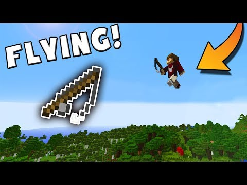 Using Fishing Rods To FLY! | Minecraft Survival Multiplayer | Episode #5