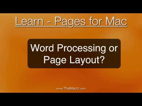 Pages for Mac Tutorial - Word Processing or Page Layout?