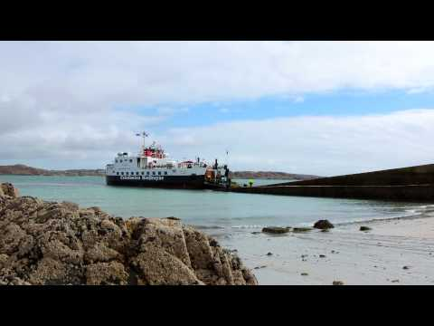 Time-Lapse Video - Ferry from Mull to Iona, Scotland