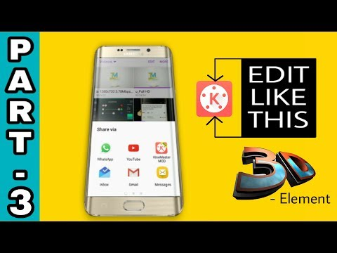 How to Edit 3D-Element Video Like I TECH || On Android