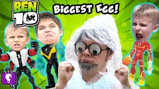 Giant BEN 10 SURPRISE EGG with Mr.Bubble Wrap and His Toy Adventure
