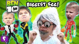 BEN 10 BIGGEST SURPRISE EGG! Bubbles + Rust Bucket RV Toy Adventure HobbyKids