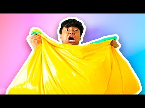 DIY How To Make FLUFFY SLIME BEAN BAG!