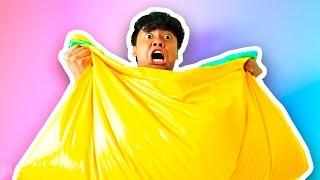 DIY How To Make FLUFFY SLIME BEAN BAG!