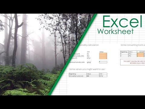 Absolute Humidity Calculator | Excel Spreadsheet Download