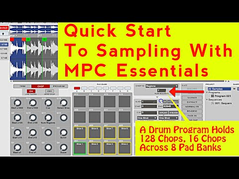 How To Sample In MPC Essentials, Chop & Create A Program Of A Sample With MPC Element & FL Studio 12
