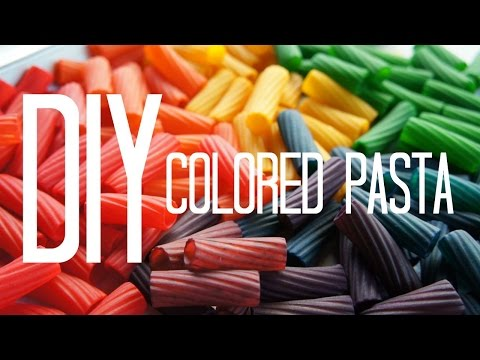 How to Make Colored Pasta - Dyeing Pasta Beads