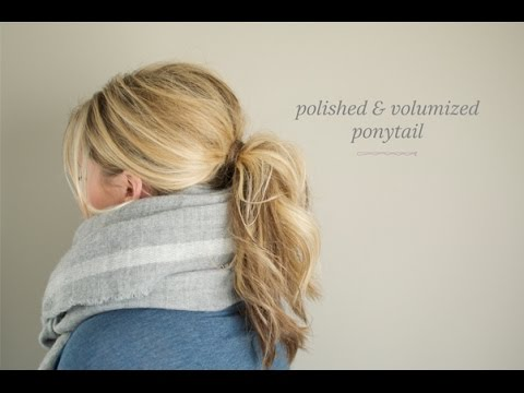 Polished and Volumized Ponytail