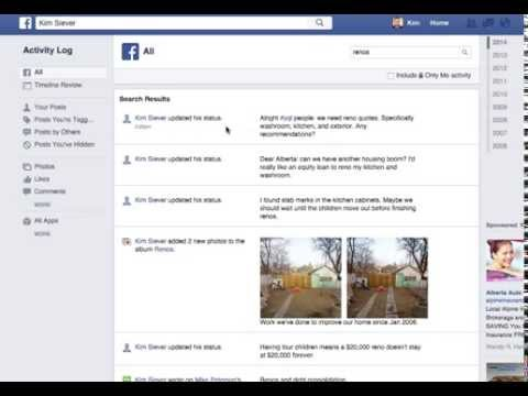 How to find old status updates on Facebook in 5 seconds