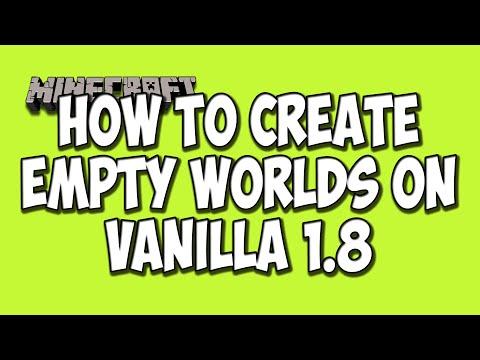How To Create An Empty World In Minecraft (Minecraft Tutorial)